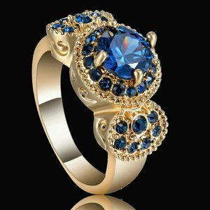 3 CT Vintage Round Sapphire Engagement Ring - 7